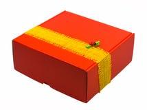 rouge de cadeau de cadre Image stock
