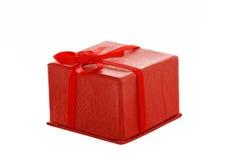rouge de cadeau de cadre Photos stock