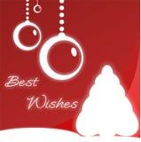 Rouge de carte de voeux de Noël Images libres de droits