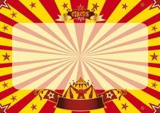 Rouge de cirque et jaune horizontaux illustration libre de droits