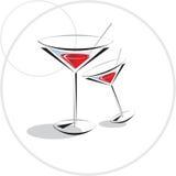 rouge de cocktail Photos stock