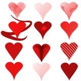 Rouge de coeur Photos stock