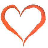 rouge de coeur Images libres de droits