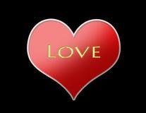 rouge de coeur Image stock