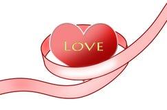rouge de coeur Photo stock