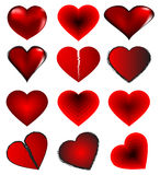 rouge de coeur Images stock
