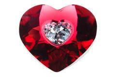 rouge de coeur Photographie stock