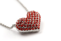 rouge de coeur de diamant Images stock
