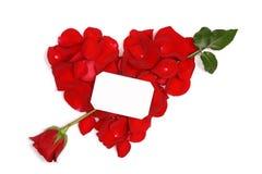 rouge de coeur de flèche Photographie stock libre de droits