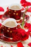 rouge de cuvette de café Photos libres de droits