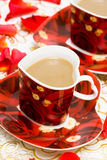 rouge de cuvette de café Photo stock