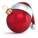 Rouge de décoration de babiole de nouvelle année d'ornement de boule de Noël illustration stock