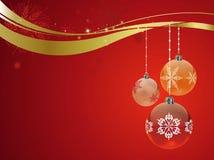 Rouge de décoration de Noël Image stock
