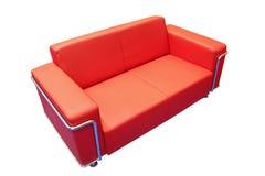 rouge de divan photographie stock libre de droits
