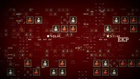 Rouge de données de personnes illustration libre de droits