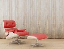 rouge de fauteuil Photos libres de droits