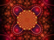 rouge de fractale de fond Image stock