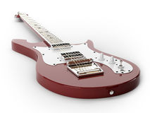Rouge de guitare électrique Photos libres de droits