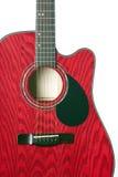 Rouge de guitare d'isolement sur le blanc Photographie stock libre de droits