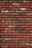 Rouge de mur de briques avec le jaune Image libre de droits