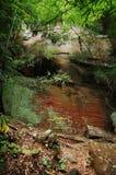 rouge de nature de construction de caverne vieux Photographie stock