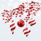 Rouge de Noël  décorations Photographie stock libre de droits