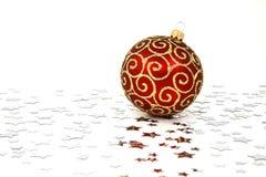 rouge de Noël de babiole Photos libres de droits