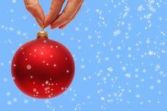 rouge de Noël de bille Photo libre de droits