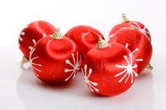 rouge de Noël de billes Images stock