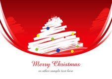 rouge de Noël de fond Images libres de droits