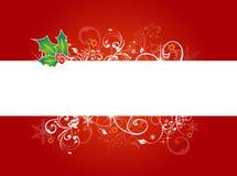 rouge de Noël de fond photo stock