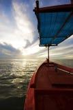 rouge de pêche de bateau Image libre de droits