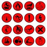 Rouge de panneau d'avertissement  Photographie stock libre de droits