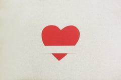 rouge de papier de coeur Images libres de droits
