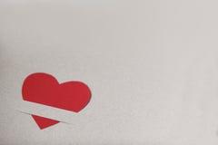 rouge de papier de coeur Photos libres de droits
