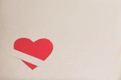 rouge de papier de coeur Image libre de droits