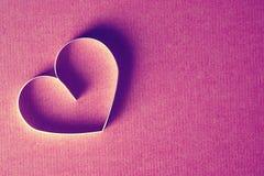 Rouge de papier de forme de coeur Images stock