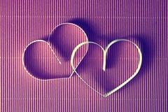 Rouge de papier de forme de coeur Photo stock