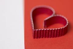 Rouge de papier de forme de coeur Image libre de droits