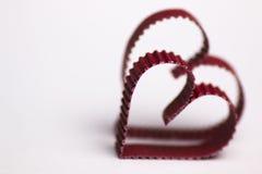 Rouge de papier de forme de coeur Photos stock