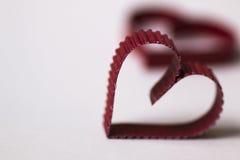 Rouge de papier de forme de coeur Photos libres de droits