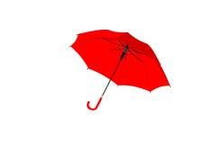 Rouge de parapluie d'isolement sur le fond blanc, objet Photos libres de droits
