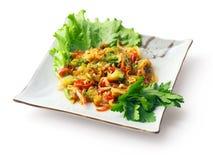 rouge de poivre d'oignon de préparation d'aneth de broccoli Image libre de droits