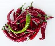 Rouge de poivre de piment fort Image stock