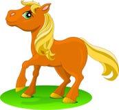 rouge de poney illustration stock