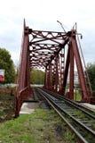 Rouge de pont de chemin de fer Images stock