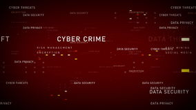 Rouge de protection des données de mots-clés illustration libre de droits