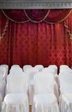 rouge de rideau Image libre de droits