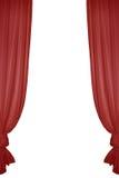 rouge de rideau photo libre de droits