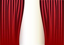 rouge de rideau Photographie stock libre de droits